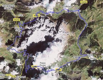 Streckenführung Sella Ronda Bikeday 2006