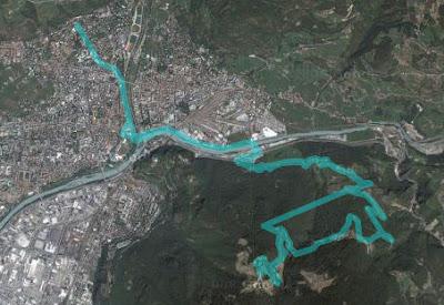 Strecke Rennradtour Bozen - Kohlern