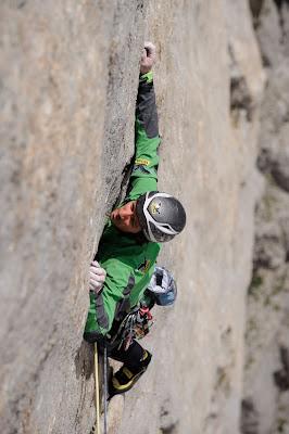Extremkletterei in den Dolomiten