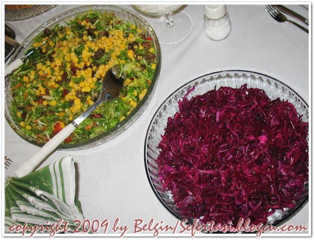 mor lahana salatası,kızrmızı lahana salatası