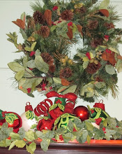 Magnificent Christmas Ball Decoration for Mantel, Hutch, or Cabinet Top!