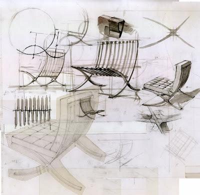 Henry passolas perspectiva c nica de la cadira barcelona de ludwig mies van der rohe - Cadira barcelona ...