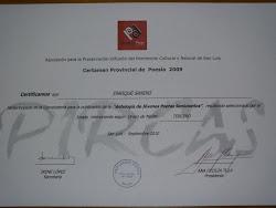 CERTIFICADO DEL PREMIO