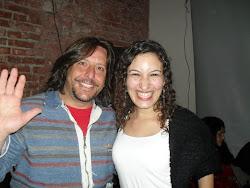 Con María Sueldo Muller, ecxelente poetisa y amiga.