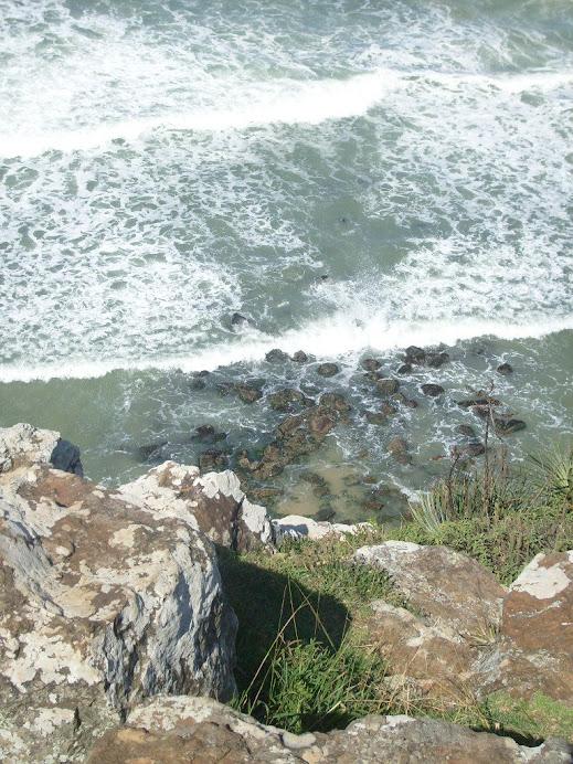 Molhes da tentativa de Porto na Guarita