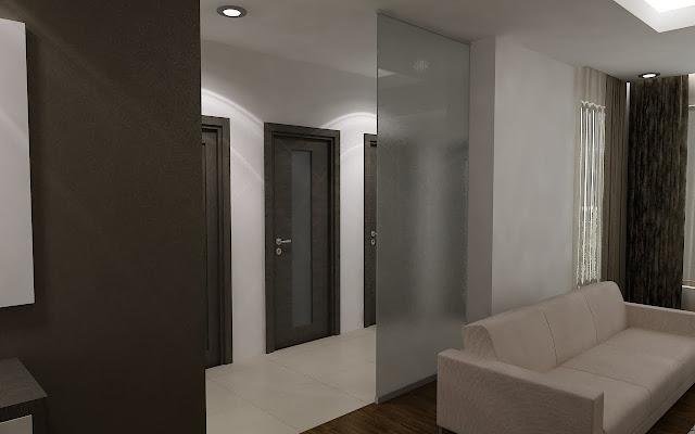 design interior sticla sablata
