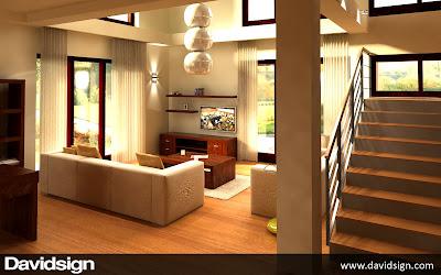 design 3D living modern