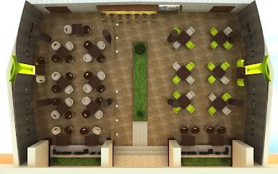 structurare design cafenea