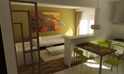 Design interior living apartament