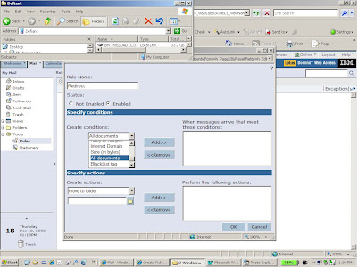 Configure Lotus Notes to forward email to another mail client.