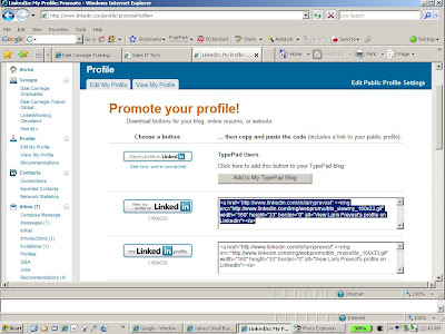 Creating a Linkedin Profile Button