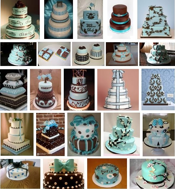 Blue And Brown Wedding Ideas Blue And Brown Wedding Cakes 1