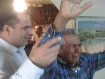 Bro Santo (Holy) receiving the baptism of the Holy Ghost with the evidence of speaking in tongues as the Spirit gives the utterance - www.mylesyoung.com
