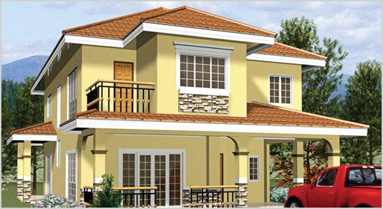 Home design 2 storey bungalow 14 for Two storey bungalow