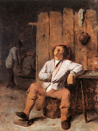 A Boor Asleep - Adriaen Brower