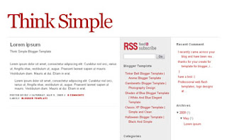 Think Simple Blogger Template