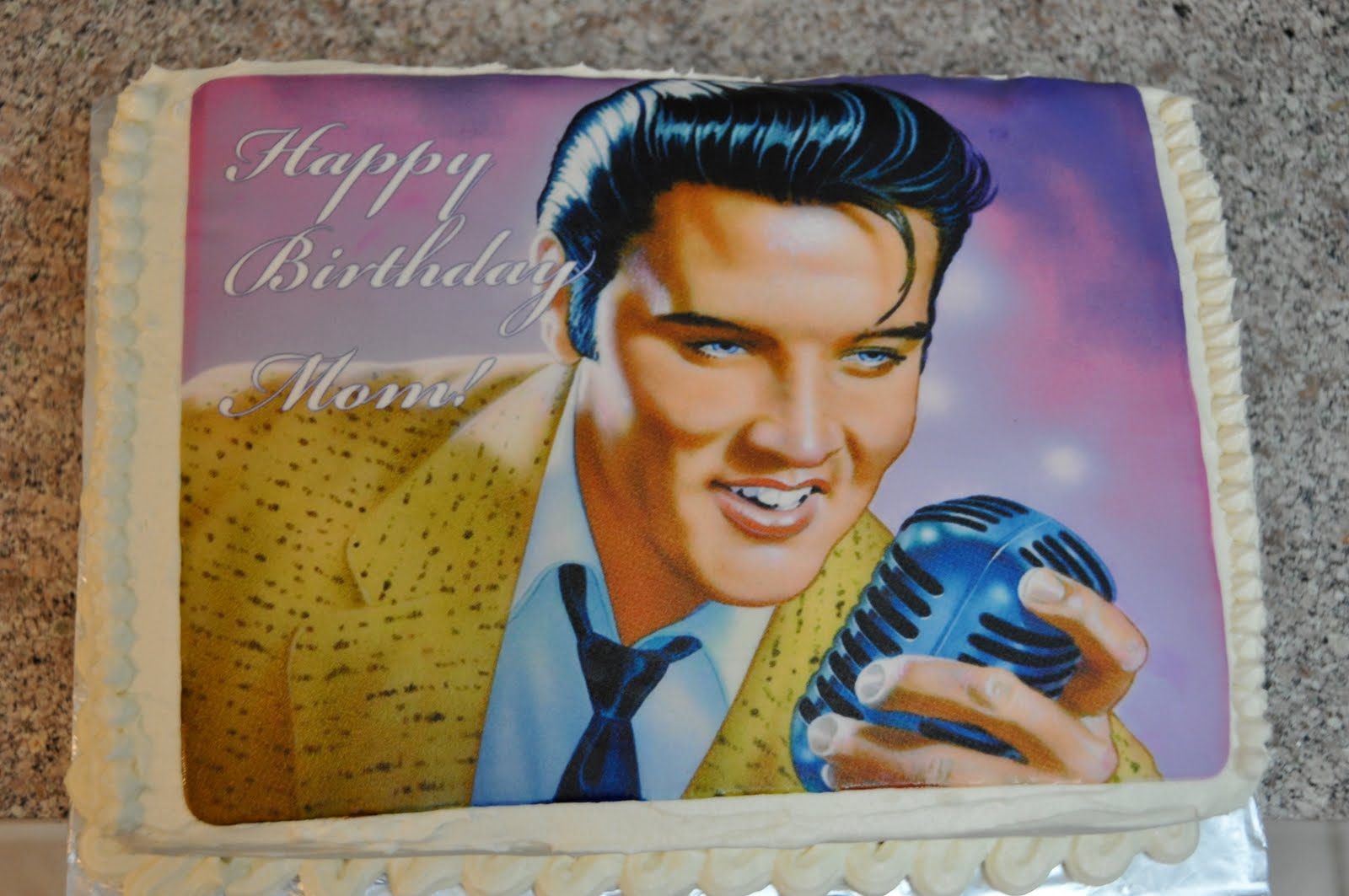 Simply Whimsical Thoughts Edible Printscake Topper The Elvis Cake