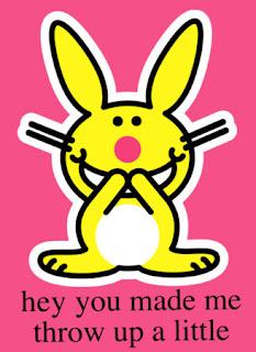 Happy Bunny hurls