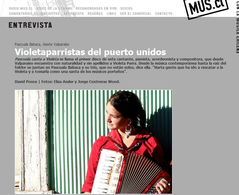 Entrevista para www.mus.cl