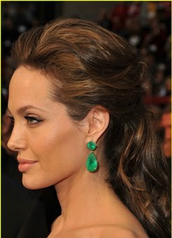 angelina jolie hair half up