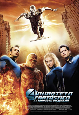 Filme Poster Quarteto Fantastico e o Surfista Prateado DVDRip Dublado