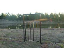 The gate that Kerry painted to our front pond