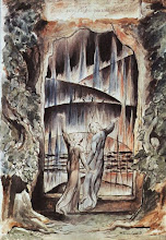Dante e Virgílio nos portões do Inferno, A Divina Comédia.  Pintura william blake