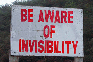 funny invisible sign