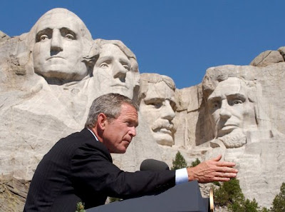 crazy photos george bush mt rushmore