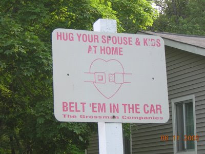 funny signs belt kids in car