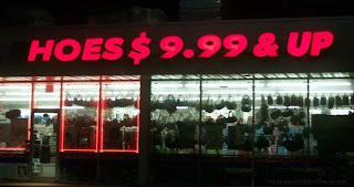 funny store sign cheap hoes