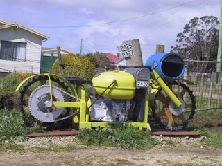 funny yellow motorcycle motorbike post box