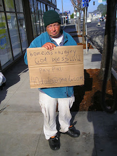 really funny pic paypal beggar new technology modern world