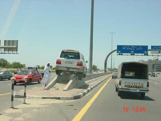 funny photos of carpark in the middle east car accident