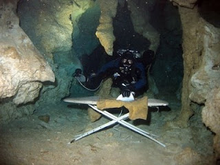 funny pic of scuab diving underwater and ironing board