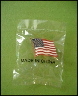 funny american lapel pin made in china photo