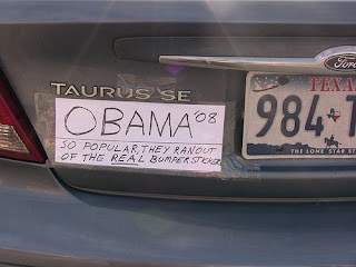 funny bumper sticker photos obama 08 make your own ran out of real ones acr