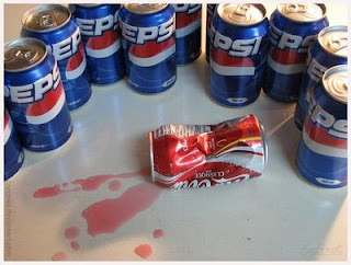 funny photos coke can killed by pepsi gang posse