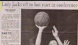 stupid newspaper headline lady jacks off to hot start missed editing