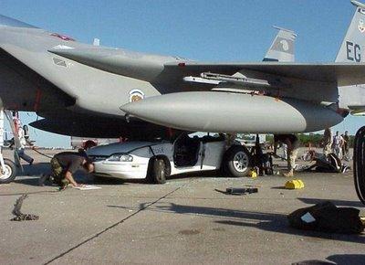 Fighter Jet on Police Car