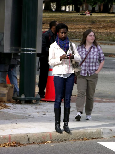 tall boots and skinny jeans with white jackets and scarf, RVA fashion, VCU fashion, richmond Fashion, richmond street style, southern fashion, southern street style