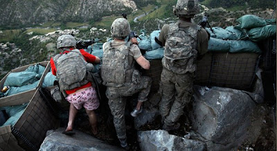 Pink Boxer in Deadly Battle funny Afganistan war, us Army makes a joke in war