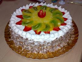 Chantilly e frutas