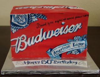 budweiser case cake