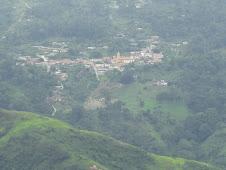 Vista desde San Rafael hacia el pueblo.