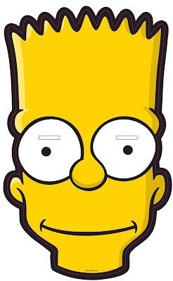 Máscara para un disfraz de Bart Simpson, hay que ajustar el tamaño