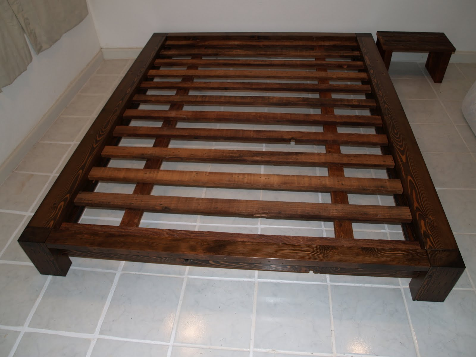 Forward thinking furniture queen size bed frame for Queen size bed frame