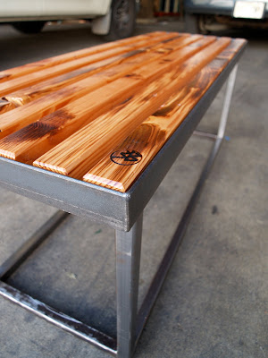 FORWARD THINKING FURNITURE: Metal meets Wood bench