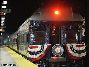 obama express, obama train ride, obama train, obama train route,obama