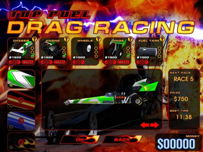 Top Fuel Drag Racing equipando